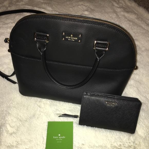 kate spade Handbags - Kate Spade Black Carli Grove Street bag & wallet